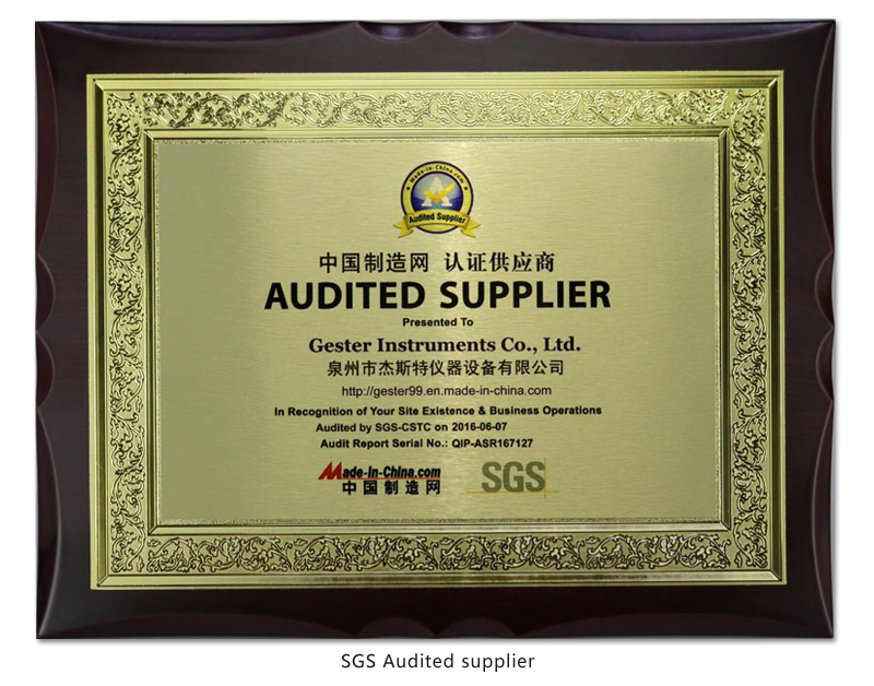 gester-SGS-Audited-supplier