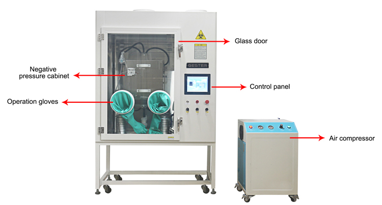 Mask bacterial filtration efficiency tester